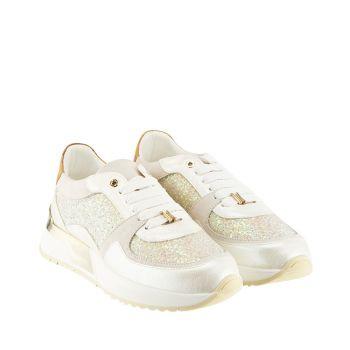 Sneakers Donna 1A Classe Alviero Martini in Pelle Bianca con Glitter P269