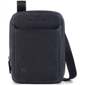 PIQUADRO Blue Leather Crossbody With iPad®mini Compartment CA3084B3