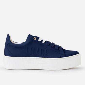 Sneakers Donna 1A Classe Alviero Martini linea Summer Pop in Tessuto Gommato Blu Navy P032