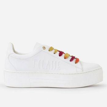 Sneakers Donna 1A Classe Alviero Martini linea Summer Pop in Tessuto Gommato Bianco P032