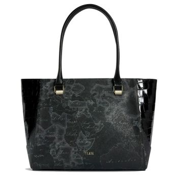 Borsa Donna Shopping 1A Classe Alviero Martini linea Geo Night Chic colore Geo Night Nero GP31
