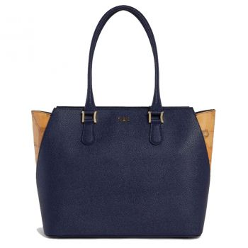 Borsa Donna Shopper a Spalla 1A Classe Alviero Martini linea Dream Way Blu Notte GQ24