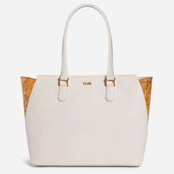 Borsa Donna Shopper a Spalla 1A Classe Alviero Martini linea Dream Way Bianco GQ24