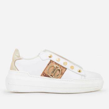 Sneakers Donna Slip On 1A Classe Alviero Martini colore Bianco e Geo Classic con Borchie P315