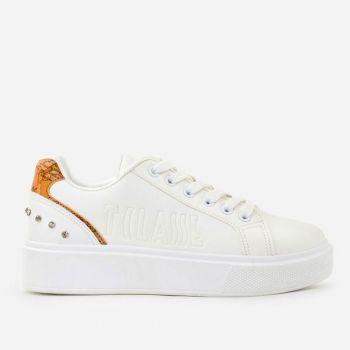 Sneakers Donna 1A Classe Alviero Martini colore Bianco e Geo Classic con Strass P341