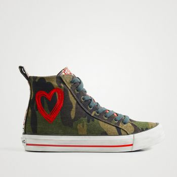 Scarpe Donna DESIGUAL Sneakers Alte Camouflage