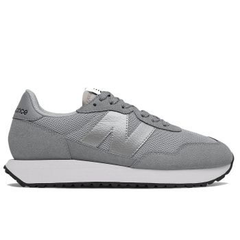 NEW BALANCE 237 Line – Grey Metallic Suede and Mesh Sneakers for Women
