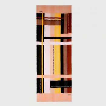 Stola Donna in Tessuto LIU JO con Righe Color Block Cipria