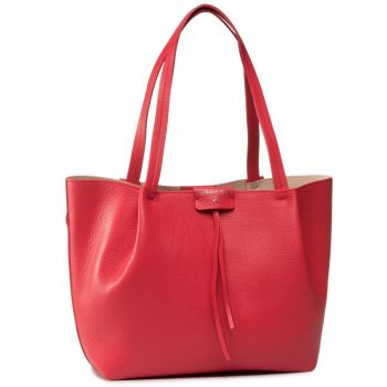 Borsa Donna in Pelle PATRIZIA PEPE Shopping a Spalla 2V8895 Flame Red