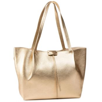 Borsa Donna in Pelle PATRIZIA PEPE Shopping a Spalla 2V8895 Gold Star