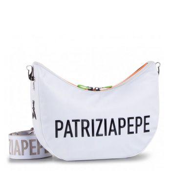 Borsa Donna a Tracolla PATRIZIA PEPE in Tessuto - 2V9892 Colore Bianco