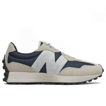 NEW BALANCE 327 Line – Outerspace Light Grey Suede Mesh Sneakers for Men