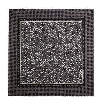Foulard in Tessuto Garzato LIU JO stampa Check colore Black Animalier