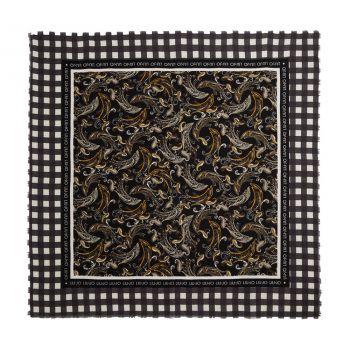 Foulard in Tessuto Garzato LIU JO stampa Check colore Nero