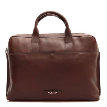 "Cartella Due Manici Porta Pc 15,6"" e Tablet THE BRIDGE in Pelle Marrone linea Story"