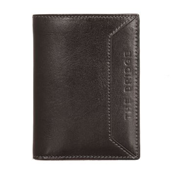 THE BRIDGE Bufalini Line – Black Leather Vertical Wallet