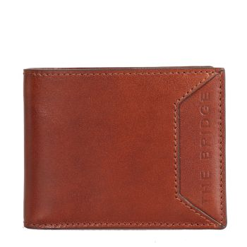 THE BRIDGE Bufalini Line – Brown Leather Credit Card Wallet