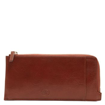 THE BRIDGE Story Line - Brown Leather Unisex Wallet with Zip Fastening