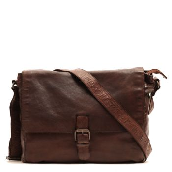 Gianni Conti Vintage Line - Brown Leather Man Messenger