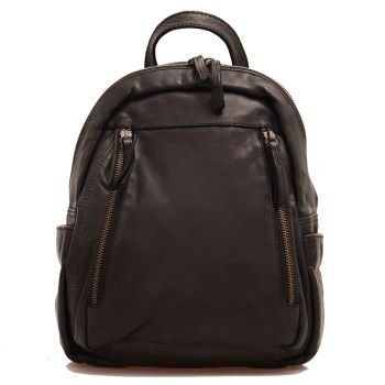 GIANNI CONTI Black Leather Backpack