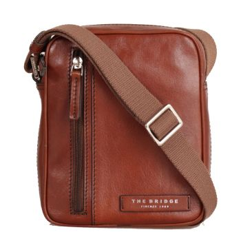 THE BRIDGE Story Line – Brown Leather Crossbody Bag Made in Italy
