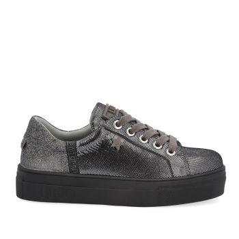 Scarpe Junior LIU JO linea Alicia 11 Sneakers in Pelle e Glitter colore Pewter