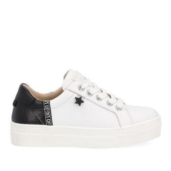 Scarpe Junior LIU JO linea Alicia 11 Sneakers in Pelle colore Bianco e Nero