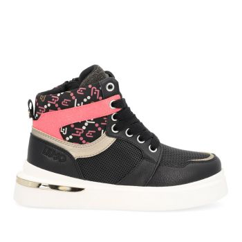 Scarpe Junior LIU JO linea Hope 39 Sneakers Mid in Nylon e Pelle Nero