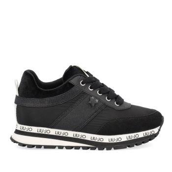 Scarpe Junior LIU JO linea Wonder 150 Sneakers in Nylon e Suede Nero