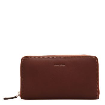 GIANNI CONTI - Brown Leather Woman Zip Around Wallet