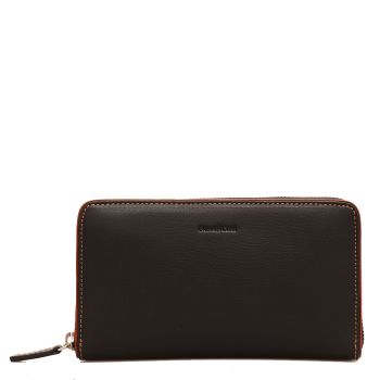 GIANNI CONTI - Black Leather Zip Around Wallet