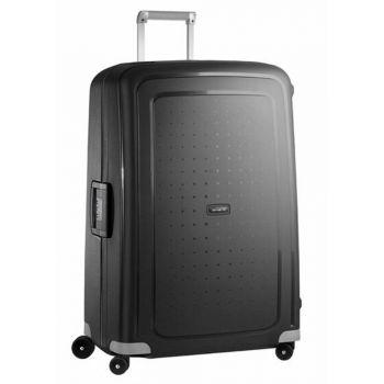SAMSONITE Black Hard Shell Trolley XL Size 4 Wheels 81 cm S'Cure Line