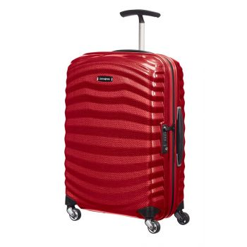 Trolley Cabina 55cm 4 Ruote Rigido Leggero 1,6kg Samsonite Lite-Shock Red