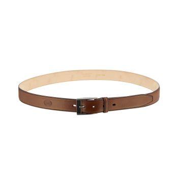 Cintura Uomo in Pelle Marrone con Fibbia Brunita THE BRIDGE h 3,5cm 110cm linea Story