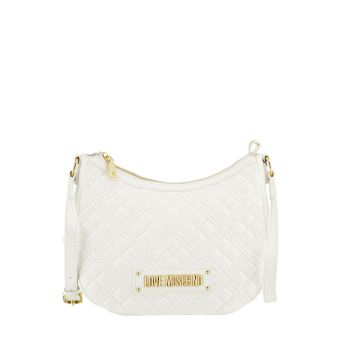 Borsa Donna Hobo a Tracolla LOVE MOSCHINO linea New Shiny Quilted Bianco