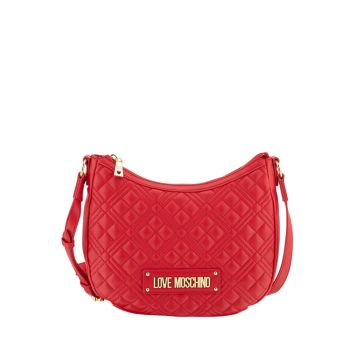 Borsa Donna Hobo a Tracolla LOVE MOSCHINO linea New Shiny Quilted Rosso