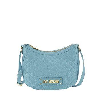 Borsa Donna Hobo a Tracolla LOVE MOSCHINO linea New Shiny Quilted Azzurro
