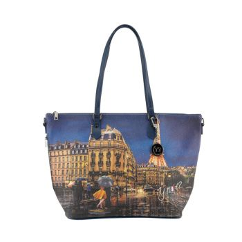 Borsa Donna Y NOT Shopping a Spalla con Tracolla YES-397 Midnight in Paris