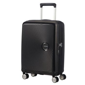 Trolley Cabina 55cm 4 Ruote Leggero 2,6kg Espandibile - American Tourister Soundbox Bass Black