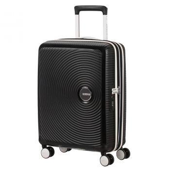 Trolley Cabina 55cm 4 Ruote Leggero 2,6kg Espandibile - American Tourister Soundbox White Black