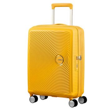 Trolley Cabina 55cm 4 Ruote Leggero 2,6kg Espandibile - American Tourister Soundbox Golden Yellow