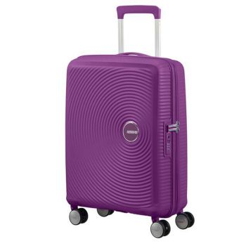 Trolley Cabina 55cm 4 Ruote Leggero 2,6kg Espandibile - American Tourister Soundbox Purple Orchid