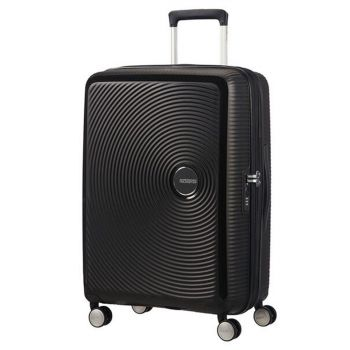 Trolley Medio 67cm 4 Ruote Leggero 3,7kg Espandibile - American Tourister Soundbox Bass Black