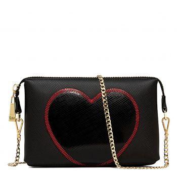 Pochette Donna con Tracolla GUM linea Lovestitch colore Nero - Nero