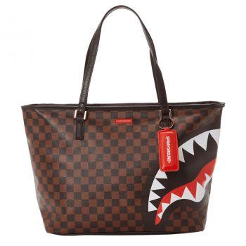 SPRAYGROUND Check and Camo Print Tote Bag