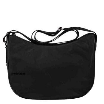 Borsa Donna a Tracolla Luna Bag Small BORBONESE in Tessuto linea Cruise Colore Nero
