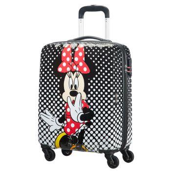 Trolley Cabina 55cm 4 Ruote Leggero 2,6kg - American Tourister Disney Minnie Mouse Polka Dot