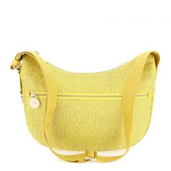 Borsa Donna a Tracolla Luna Bag Small BORBONESE in Tessuto linea Jet Op Colore Giallo