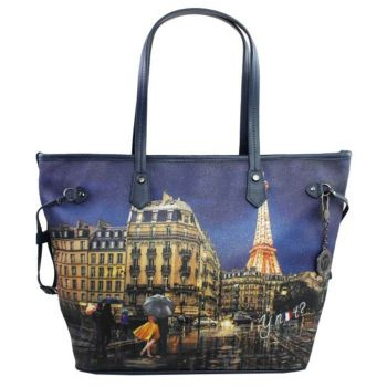 Borsa Donna Y NOT Shopping Grande a Spalla YES-319 Midnight in Paris