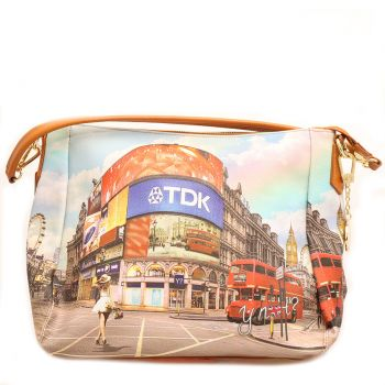 Borsa Donna Y NOT a Spalla con Tracolla Media - L-321 Princess in London